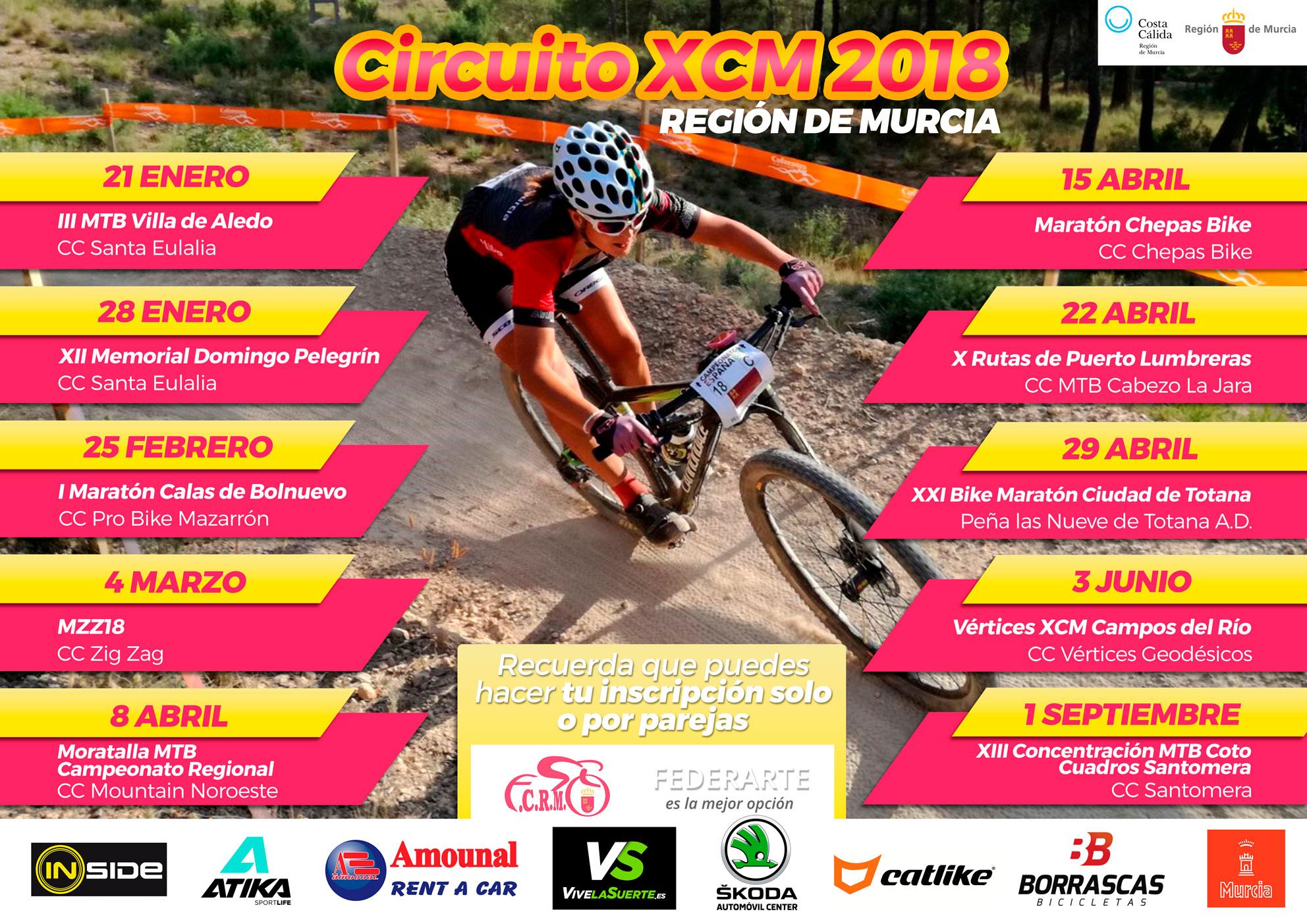 Calendario Mtb.Calendario Btt 2019 Federacion De Ciclismo De La Region De