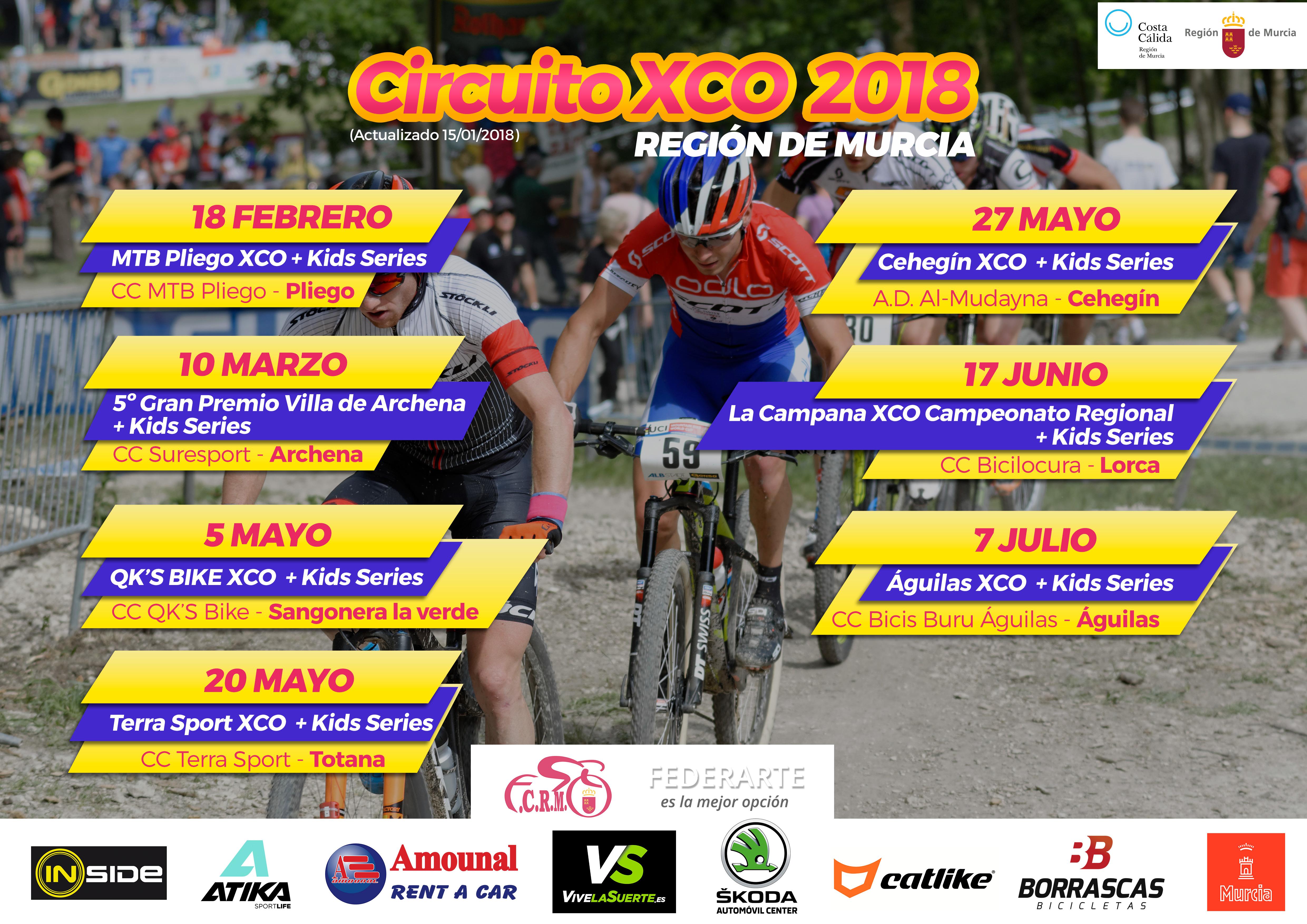 Calendario Mtb.Calendario Btt 2018 Federacion De Ciclismo De La Region De